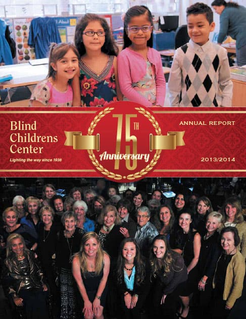 Blind Children's Center Annual Report 2013/2014