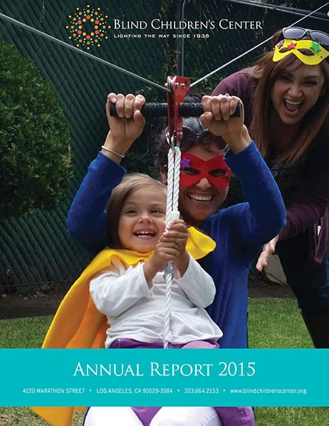 Blind Children's Center Annual Report 2014/2015