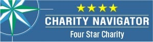 Charity Navigator 4-Star rating logo.