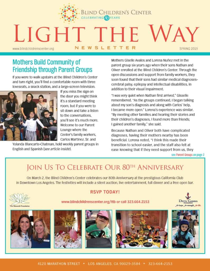 Light the Way Spring 2019 Newsletter