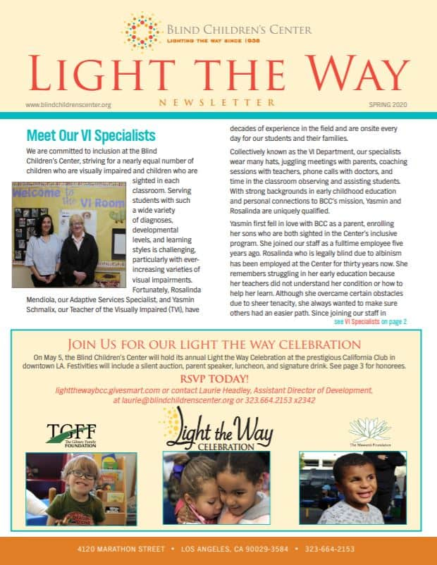 Light the Way Spring 2020 Newsletter