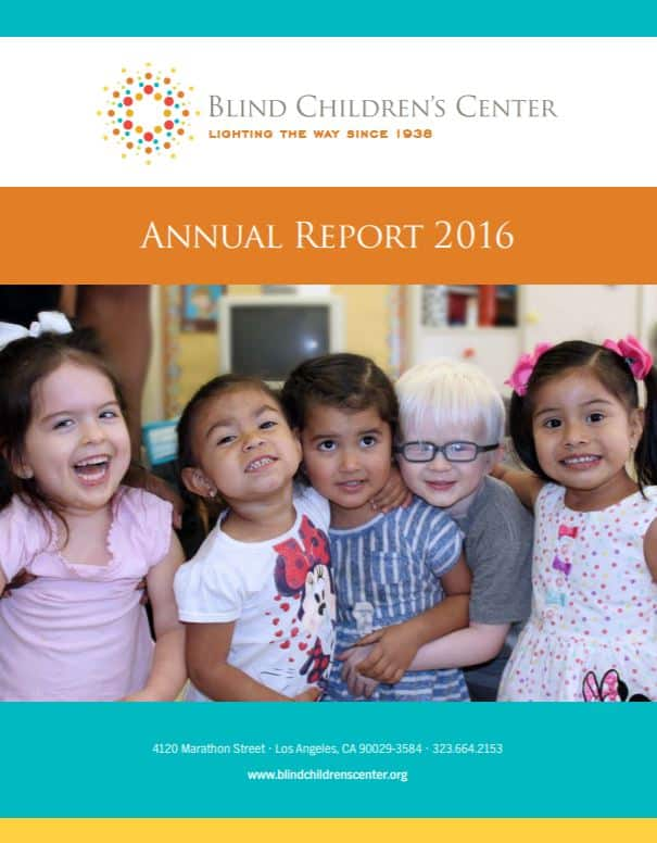 Blind Children's Center 2015-2016 Annual Report
