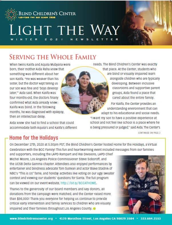 Light the Way Winter 2021 Newsletter